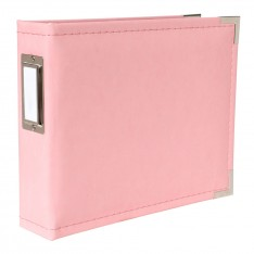 Альбом Classic Leather Pink, We R Memory Keepers, 15×15см, 30893-5