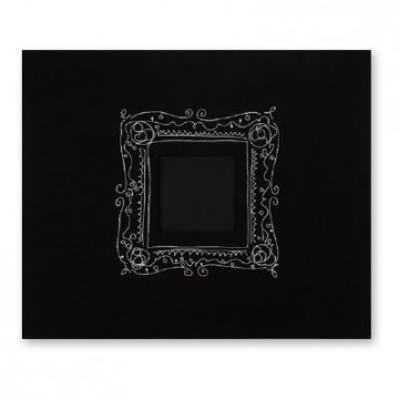 Купить Альбом Black with Embroidered Frame, American Crafts, 30х30 см, 76186
