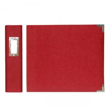 Купить Альбом Linen Ring Album Pomegranate, 30х30 см, We R Memory Keepers, 70381-5