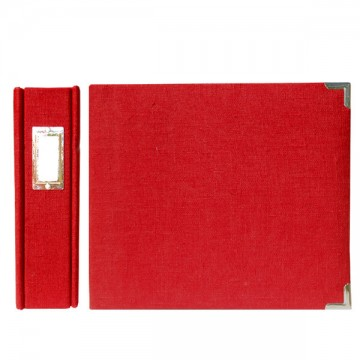Купить Альбом Linen Post Album Pomegranate, 30х30 см, WeRMemory Keepers, 70372-3