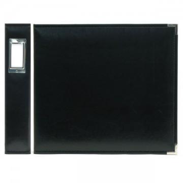 Купить Альбом Classic Leather Ring Black, 30х30 см, We R Memory Keepers, 40337-1