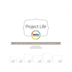 Файлы для альбома Small Variety Pack 2, Project Life, American Crafts, 12 шт, 380025