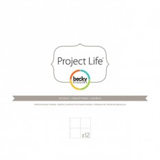 Файлы для альбома E, Project Life, American Crafts, 12 шт, 380008