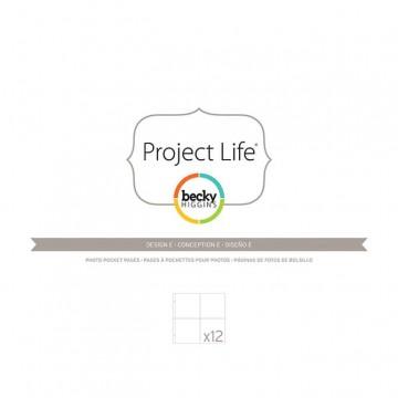 Купить Файлы для альбома E, Project Life, American Crafts, 12 шт, 380008