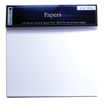 Купить Страницы для создания альбома - Dovecraft, 15×15, белые, DCZT07
