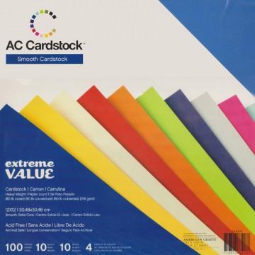 Купить Набор картона Extreme Value Smooth Cardstock, American Crafts, 366243
