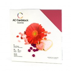 Набор картона Valentine, American Crafts, 30х30 см, 71258