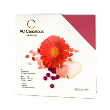 Купить Набор картона Valentine, American Crafts, 30х30 см, 71258