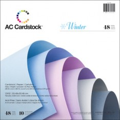 Набор картона Winter Cardstock Pack, 30х30 см, American Crafts, 35625