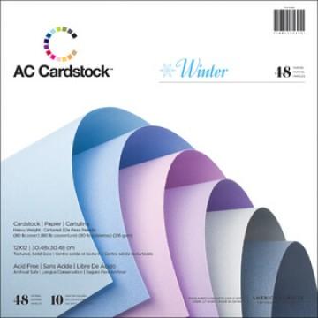 Купить Набор картона Winter Cardstock Pack, 30х30 см, American Crafts, 35625
