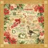Купить Лист бумаги Golden Rings, 12 Days of Christmas, Graphic 45, 30 × 30 см, 4500725