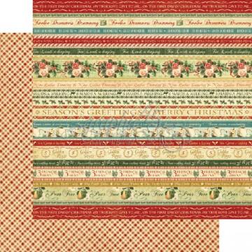 Купить Лист бумаги Joyeux Noel, 12 Days of Christmas, Graphic 45, 30 × 30 см, 4500722