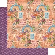 Лист бумаги Sugar Plum Fairy, Nutcracker, Graphic 45, 30 × 30 см, 4500556