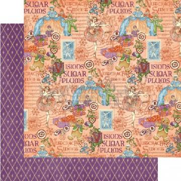 Купить Лист бумаги Sugar Plum Fairy, Nutcracker, Graphic 45, 30 × 30 см, 4500556