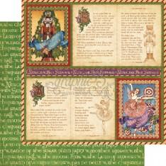 Лист бумаги Festive Fairytale, Nutcracker, Graphic 45, 30 × 30 см, 4500552