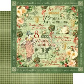 Купить Лист бумаги Swans a Swimming, 12 Days of Christmas, Graphic 45, 30 × 30 см, 4500727