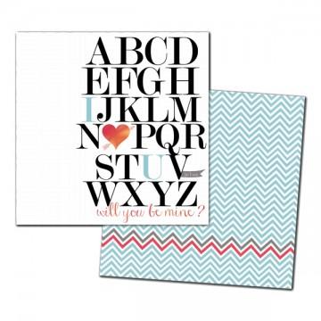 Купить Лист картона Alpha Love Foiled, My Mind's Eye, CA1002
