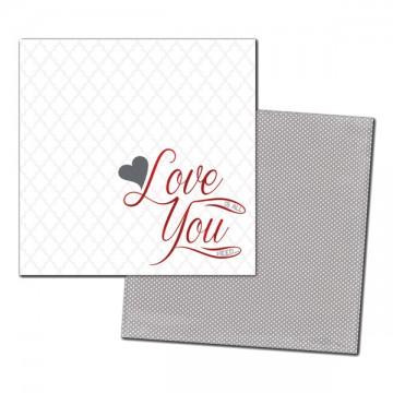 Купить Лист картона Love You Foiled, My Mind's Eye, CA1003