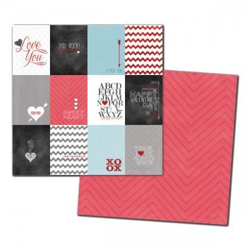 Купить Лист картона Love Journal Cards Foiled, My Mind's Eye, CA1004