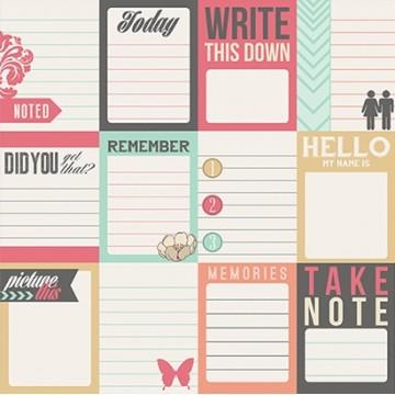 Купить Лист картона Notecards, Daily Stories, Teresa Collins, DS1005
