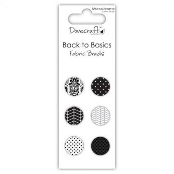 Купить Брадсы тканевые Back to Basics Monochrome, Dovecraft, DCES007