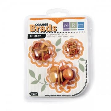 Купить Брадсы Basic Brads Glitter – Orange, 42053-8