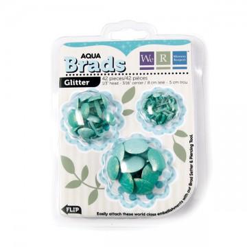Купить Брадсы Basic Brads Glitter – Aqua, 42056-9