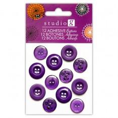 Пуговицы на клеевой основе, Hampton Art, violet, VACAST0522-4
