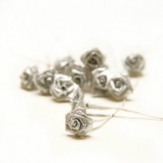 Букет роз Ribbon Rose Silver Iridescent, B1154SI