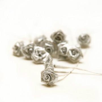 Купить Букет роз Ribbon Rose Silver Iridescent, B1154SI