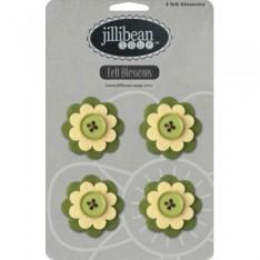 Набор цветов Felt Blossoms - Green, Jillibean Soup, JBJ7725
