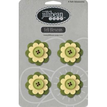 Купить Набор цветов Felt Blossoms - Green, Jillibean Soup, JBJ7725