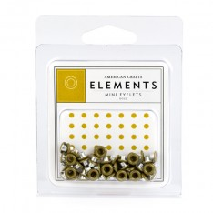 Люверсы Mini Eyelets Gold, American Crafts, 85464