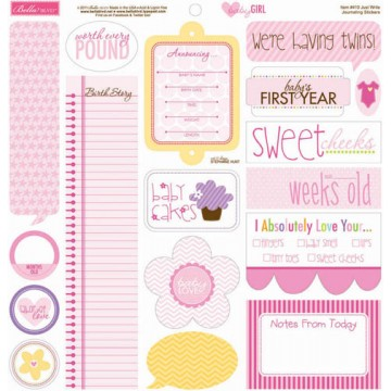 Купить Наклейки Just Write, Baby Girl, Bella BLVD, 30×30 см, 410