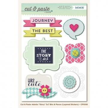 Купить Объемные многошаровые наклейки Story (Cut & Paste), My Mind's Eye, CP1008