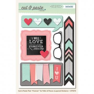 Купить Объемные многошаровые наклейки Forever (Cut & Paste), My Mind's Eye, CP1073