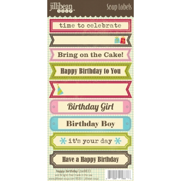 Купить Лейбы Birthday Soup Labels, Jillibean Soup, JBE8833