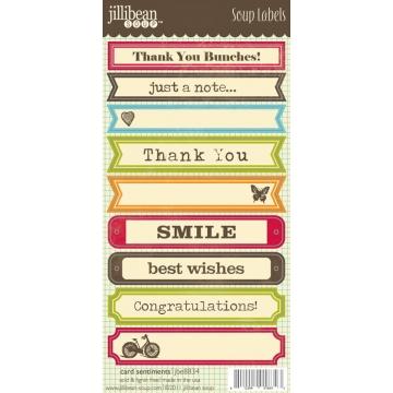 Купить Лейбы Card Sentiments Soup Labels, Jillibean Soup, JBE8834