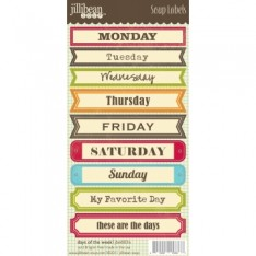 Лейбы Days of the Week Soup Labels, Jillibean Soup, JBE8836