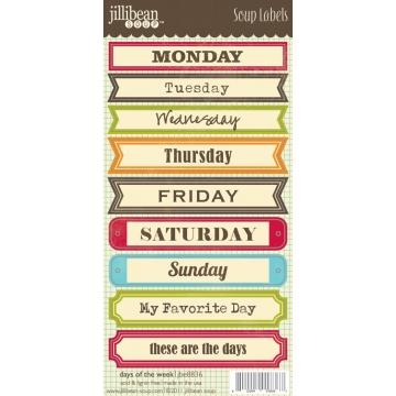 Купить Лейбы Days of the Week Soup Labels, Jillibean Soup, JBE8836