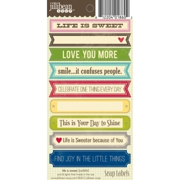 Купить Лейбы Life is Sweet Soup Labels, Jillibean Soup, JBE8860