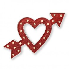 Украшение Marquee Kit - 14 Inches - Heart with Arrow, Heidi Swapp, 312443
