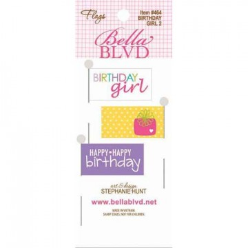 Купить Флажки Birthday Girl 2 Flags, Bella BLVD, 464