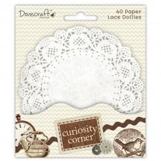 Бумажные салфетки белые Curiosity Corner, Dovecraft, DCDO006