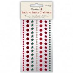 Стразы Back to Basics Christmas Vintage, Dovecraft, DCXGE02A