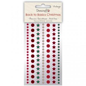 Купить Стразы Back to Basics Christmas Vintage, Dovecraft, DCXGE02A