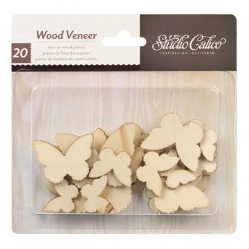 Купить Деревянные фигурки Classic Calico v2 - Butterflies, Studio Calico, 331050