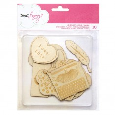 Деревянные фигурки Dear Lizzy - Daydreamer, American Crafts, 366781