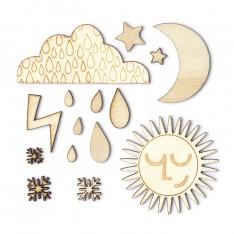 Деревянные фигурки Weather, That-a-Way, Studio Calico, 331758