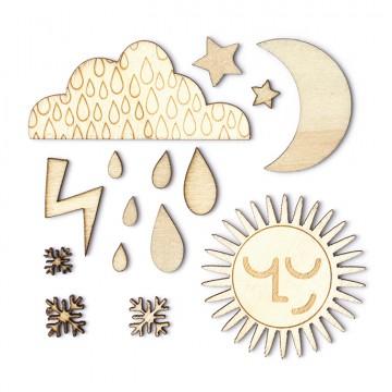 Купить Деревянные фигурки Weather, That-a-Way, Studio Calico, 331758